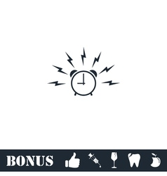 Alarm wake-up time icon flat vector