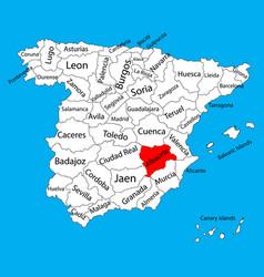 Albacete map spain province administrative vector