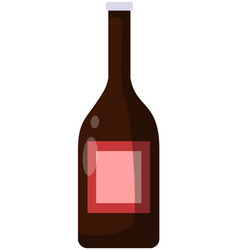 alcohol beverage made from fermented grapes vector image