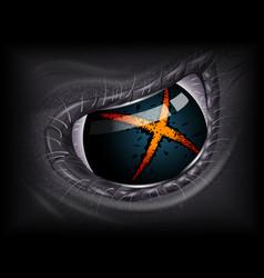 Alien eye realistic 3d image vector