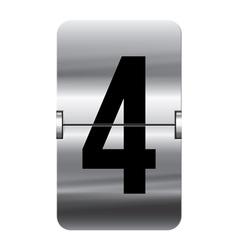 Alphabet silver flipboard letters 4 vector image