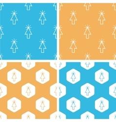Arrow cursor pattern set colored vector image