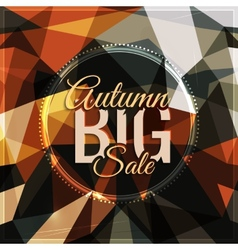 Autumn sale typography on triangular background in vector