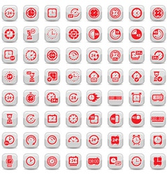 big clock icons set vector image