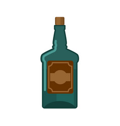 Bottle rum isolated traditional pirate binge vector