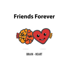 Brain icon and heart logo design templateheart vector