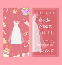 bridal shower invitations set of banners vector image