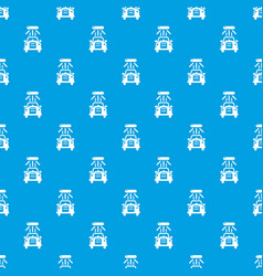 car wash pattern seamless blue vector image