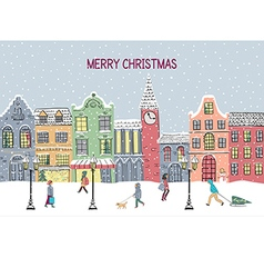 Christmas and New year greeting card Hand drawn vector