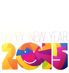 Colorful 2015 New Year vector