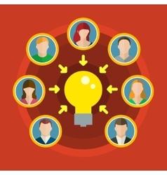 Concept of crowdsourcing vector