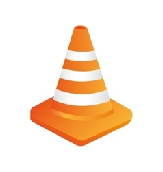 Cones construction isolated flat design vector