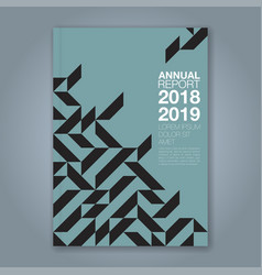 Cover annual report 873 vector