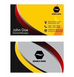 Creative business card design vector