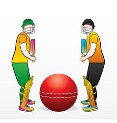 cricket championship concept vector image