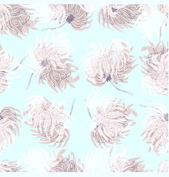 dahlia flower seamless pattern vector image