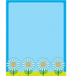 daisy border frame vector image vector image