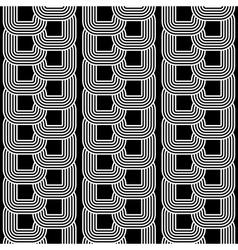 Design seamless monochrome chain geometric pattern vector