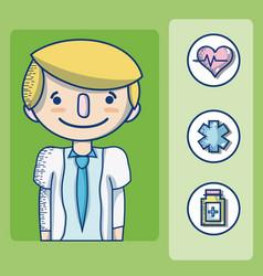 doctor cute cartoon vector image