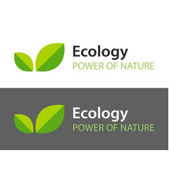 ecology logo isolated on white and dark vector image