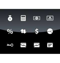 Economy icons on black background vector image