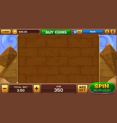 Egyptian background for slots game vector