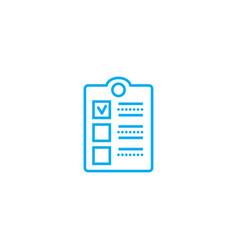 Employee survey linear icon concept employee vector