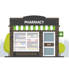 facade pharmacy in urban space sale of vector image