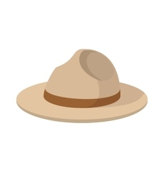Farmer hat icon cartoon style vector