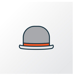 Fedora colorful outline symbol premium quality vector
