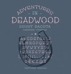 font adventures in deadwood vector image