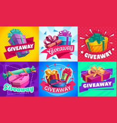 Free prizes giveaway gifts contest competition vector