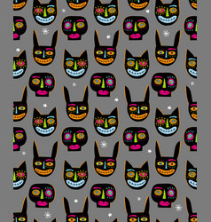 funny hand drawn abstract halloween pattern vector image