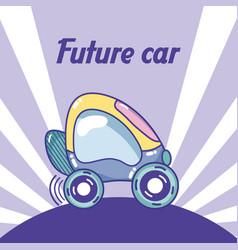 Future car cartoon concept vector
