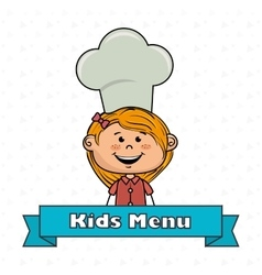 girl kids menu food vector image