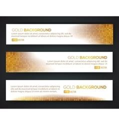 Gold sale banner set vector