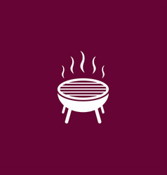 grill icon simple bbq vector image