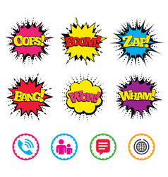 Group of people and phone call speech bubble vector