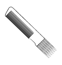 Hairdressing brush accesory vector