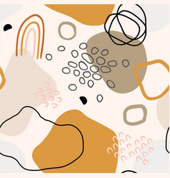 Hand drawn seamless organic pattern vector