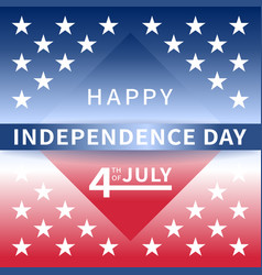 happy independence day usa july 4th background vector image