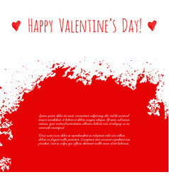 Happy valentines day red watercolor texture vector