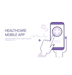 healthcare mobile application business concept vector image