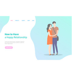 how to have happy relationships students in love vector image
