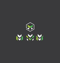 Initial m logo icon vector