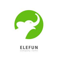 Isolated elephant head in circle logo vector