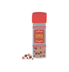 jar with colorful peppercorn spice herb element vector image