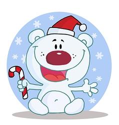 Joyous Christmas Polar Bear vector