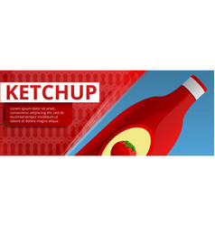 ketchup bottle concept banner cartoon style vector image