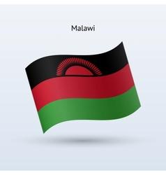 Malawi flag waving form vector image